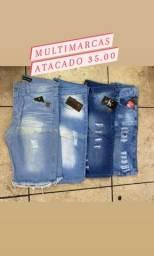 Bermudas jeans atacado