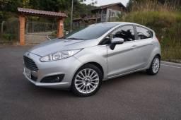 Ford New Fiesta Titanium 1.6 automático 2014 prata com câmbio novo!