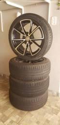 Rodas Diamantadas Audi RS4 aro 18 com Pneus Michelin Novos