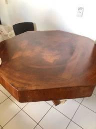 Mesa octogonal madeira maciça