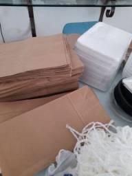 Vendo lote de embalagens com seladora a vácuo