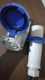 Tomada + plug Plug Steck Newkon 3p+t 63a 220v Azul N4579