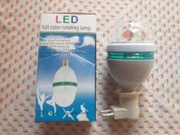 Lâmpada giratória bivolt LED.