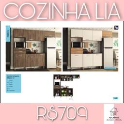 Armário de cozinha completo com balcão lia