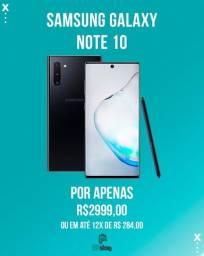 Smartphone Samsung Galaxy Note10 256 GB Aura black Lacrado (Ac. Cartão)