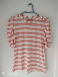 Vendo separadamente blusas de malha, tecido e sobretudo Tam M