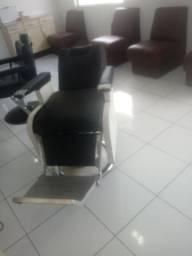 Cadeira de barbeiro hidráulica antiga