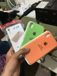 Case Aveludada iPhone XR + 1 transparente!