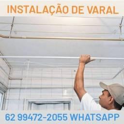 Instalação de Varal