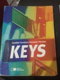 Livro de inglês KEYS, R$80,00