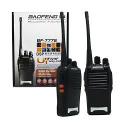 Kit 2 Rádio Comunicador Walk Talk Ht UHF 16 Canais Baofeng