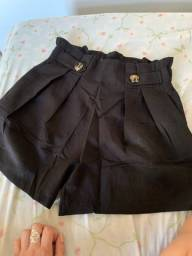Short alfaiataria preto