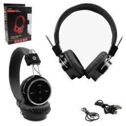 Headphone Bluetooth c/ Entrada SD Card P2 E Rádio FM Preto FX-B05 FX-B05
