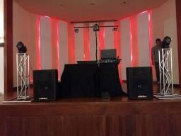 DJ Som Iluminação Telão Treliça para Festa e Eventos em 4x sem juros