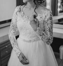 vestido de noiva princesa - tule e renda