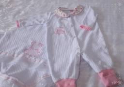Saída de maternidade macacão longo