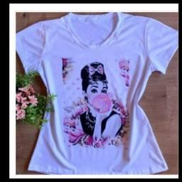 Camiseta feminina t _shirts feminina XGG