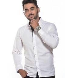Camisas social masculina tricoline algodão 60%