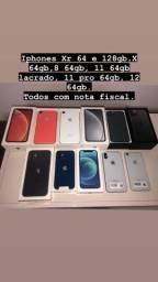 Iphones novos lacrados e semi novos com nota fiscal