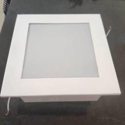 3 Plafons de embutir 20x20cm lampada E27