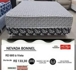 Cama Box Casal Nevada Bonnel Novinha Zerada Direto de Fábrica Entrega grátis no mesmo dia