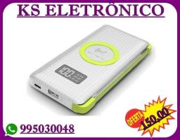 Bateria Extra Power Bank H'mast Qi Wireless 10000mah Led Usb