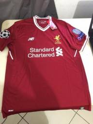 Camisa Original do Liverpool 17 18 - M. Salah ae3ec551928a2
