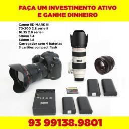Canon 5d Markiii + lentes profissionais