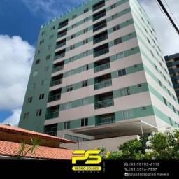 Apartamento com 3 dormitórios à venda, 86 m² por R$ 549.000 - Cabo Branco - João Pessoa/PB