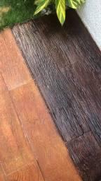 Piso eco madeira cimentício