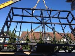 Estrutura metálica para Front Light 26m2