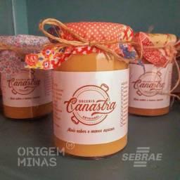 Doce Puro Leite 1% Açúcar - 350 g | Doceria Canastra