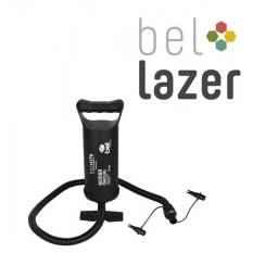(WhatsApp) bomba inflador manual p/ colchões - bel lazer - 30cm