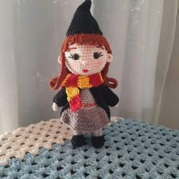 Boneca Hermione de crochê