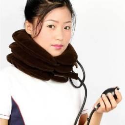 Colar cervical inflável para dores no pescoço alívio de dores