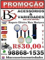 Raquete Elétrica Mata Muriçoca (Loja BK Variedades)- Aceitamos cartão de Crédito