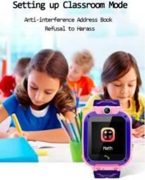 Smartwatch INFANTIL Q12 - chamada SOS - cartão SIM - mensagem