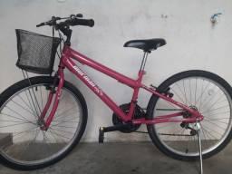 Vende-se bicicleta Mormaii rosa aro 24