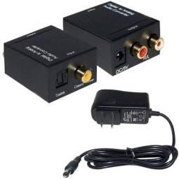 Conversor Áudio Digital Óptico Para Analógico Rca - 7548