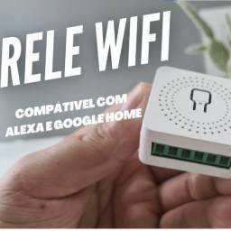 Mini Interruptor tipo sonoff Wifi Inteligente de 16A Compatível C/ Alexa e Google Home
