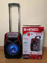 Caixa de Som Kimiso QS-803- Amplificada/ 1000W e Karaokê