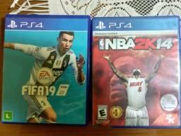 2 jogos PS4 por 50( *ou FIFA 19 R$35 - Nba2k14 R$25