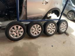 Jogo de rodas Peugeot original r14 c/ pneu zero