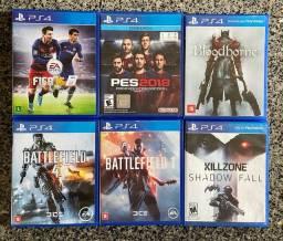 Jogos de PS4 - Preços na descrição.