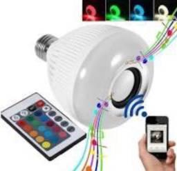 Lâmpada Led Musical Bluetooth Com Controle Remoto Musical varias cores top pronta entrega
