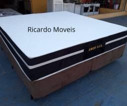 Conjunto Box King Eros Semi Ortopeico Cama Gigante