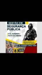 Curso Superior Segurança Pública e Privada. EAD. 50% Desconto