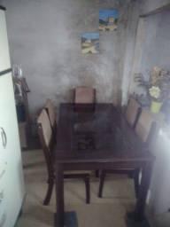 Mesa de vidro temperando...6 cadeiras