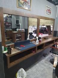 Bancada para barbeiro