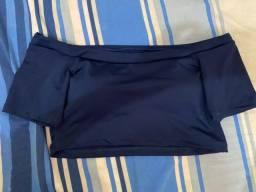 Cropped azul marinho